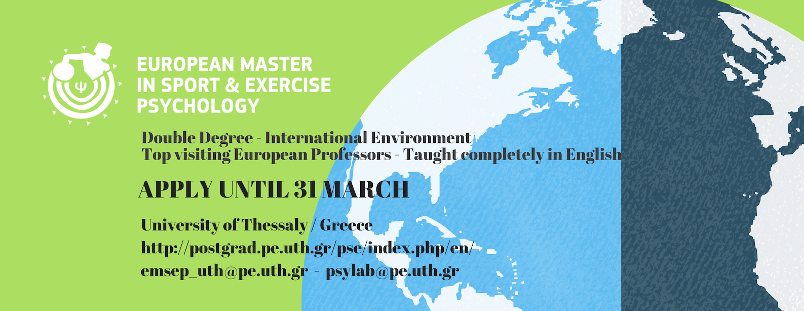 European Master in Sport & Exercise Psychology: Application period is now open!