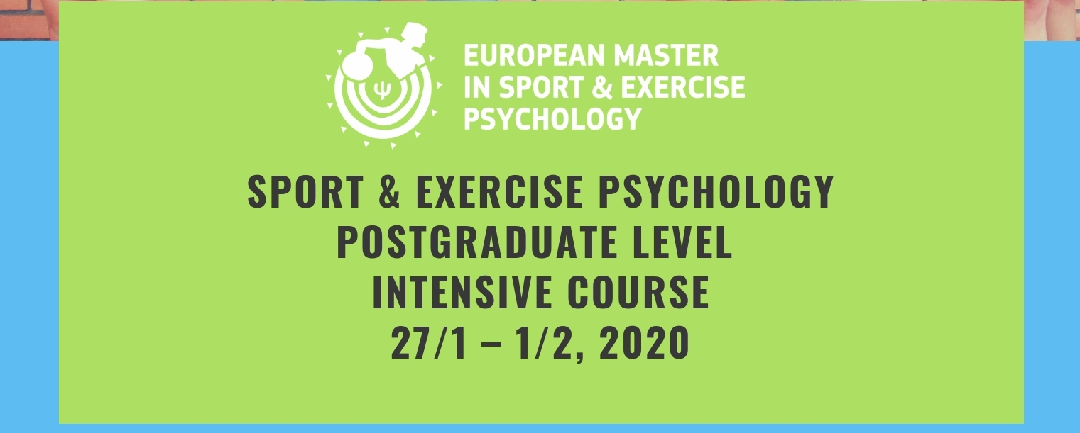 Intensive Course in Sport & Exercise Psychology - 14 Lecturers from 5 European Countries & USA