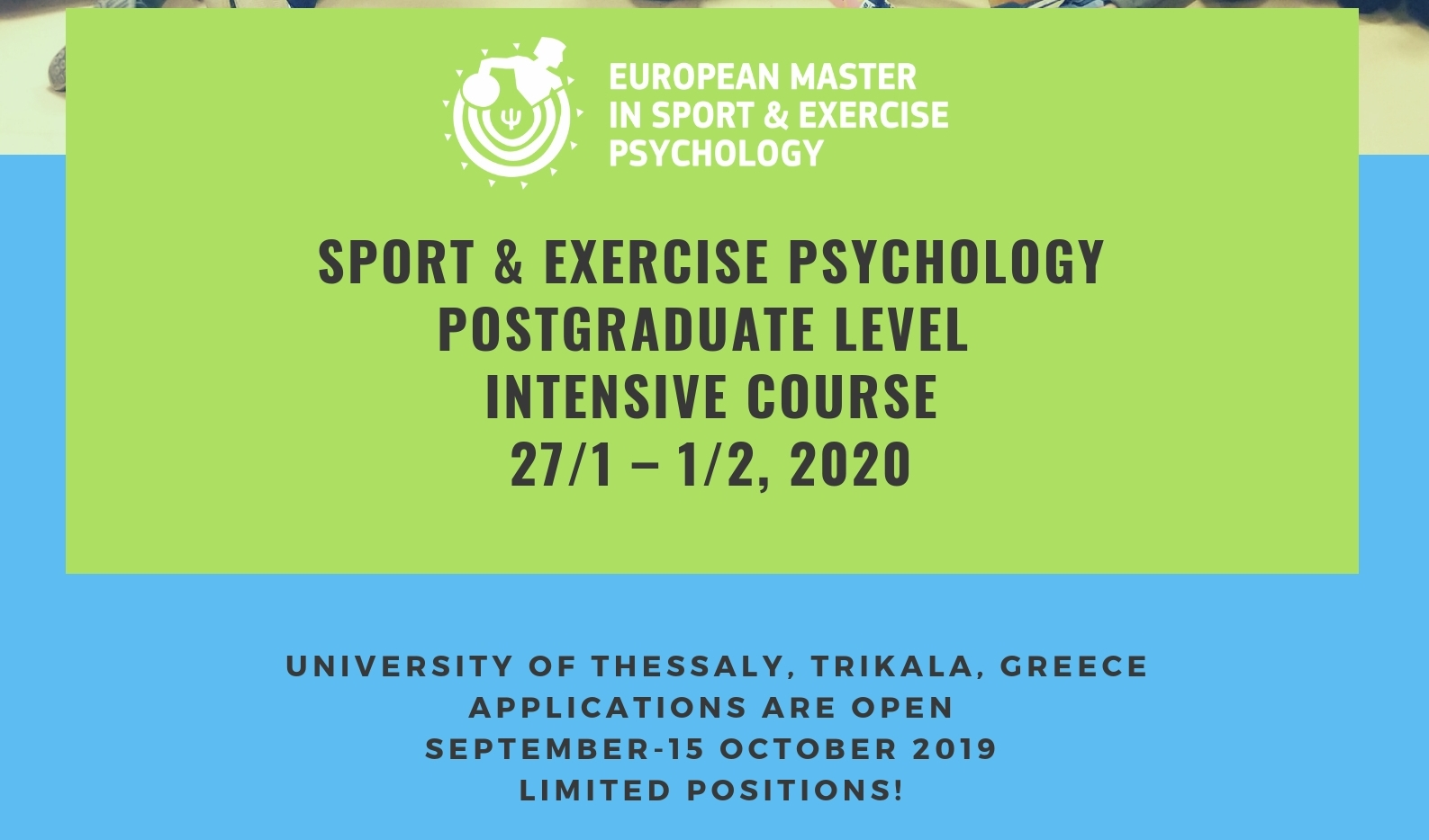 Intensive Course in Sport & Exercise Psychology 2020
